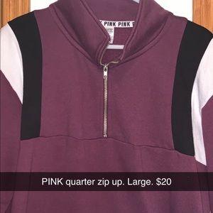 PINK quarter zip up sweatshirt